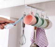 Hever Under Cabinet Mug Holder Mug Hook Mug Rack Hanger Organiser Storage Drying Rack