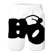 Chjeahtes Men Christmas Designed Flag Swim Trunks Beach Pants