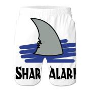 Chjeahtes Men's Shark Designed Flag Swim Trunks Beach Pants