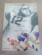 WESTERN KENTUCKY EASTERN KTY COLLEGE FOOTBALL programme - 1958 - EX/NM SHAPE