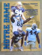 NOTRE DAME TEXAS AM COLLEGE FOOTBALL programme - 2000 - MINT