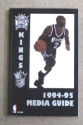 SACRAMENTO KINGS NBA BASKETBALL MEDIA GUIDE - 1994 1995 - NEAR MINT