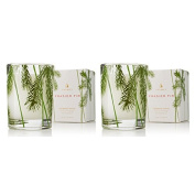 Thymes Frasier Fir Votive Candle in Pine Needle Glass - Set of 2