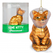 Cone Kitty 4 Glass Holiday Christmas Ornament by Accoutrements