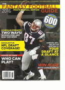 THE FANTASY FOOTBALL GUIDE, PROFESSIONAL EDITION, 2016 NFL draught COVERAGE !
