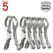 WEBI Stainless Steel Heavy Duty Beach Towel Utility Boca Clips Clothing Peg Clamp Clothespin Hanger for Photos, Quilt, Jeans, Pants, Windproof,11cm