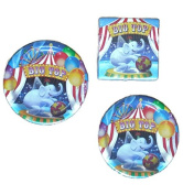 Big Top Party Package (16) Plates (16) Napkins