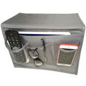 Bedside Storage Organiser, Bedside Caddy, Table Cabinet Storage Organiser, Grey