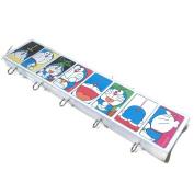 Agility Bathroom Wall Hanger Hat Bag Key Adhesive Wood 5 Hooks Classic Doraemon's Photo