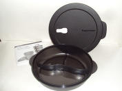 Tupperware CrystalWave Large Divided Dish in Black