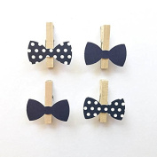Don't Say Baby Game Bow Tie Clothespins Clips 12 Clothes Pins Navy Wedding Shower Party Favours Decor