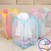 Fabal Laundry Basket Pop-Up Mesh Bin Tidy Storage Toys Fold-able Cloth Washing Bag