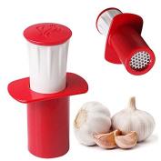 MAZIMARK--Easy Garlic Press Peeler Crusher Presser Kitchen Helper Gadget Cutter Hand Tool