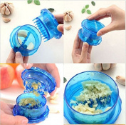 MAZIMARK--Plastic Garlic Presser Crusher Masher Cutter Slicer Kitchen Tool Easy to Use