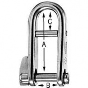 Wichard Key Pin Shackles with Bar, halyard key shackle 1100 swl