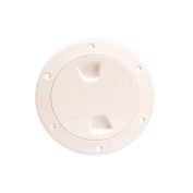 Beckson 10cm Smooth Centre Screw-Out Deck Plate - Beige