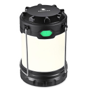 Hillmax Camping Lantern with 3 LED Modes White Light,Warm Light and Mixture Portable Outdoor Light Operated by AAA or AA Batteries for Camping, Fishing and Emergency