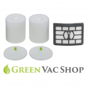 GreenVacShop 2+1 Pack Shark Rotator Pro Lift-Away NV500, NV501, NV502, NV503, NV505, NV510, NV520, NV552, UV560 Replacement Filter Set, 2 Foam+2 Felt+1 HEPA Filters, XFF500 XHF500
