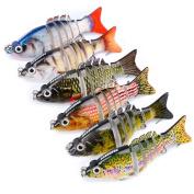 6pcs/Lot Swimbaits Fishing Lures Jointed Swimbait Bait Bass Tackle 8.5cm 10.7g Wobbler Baits Fishing Lure
