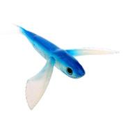 YDZN Fishing Lure Seawater Fishing Bait Flying Fish Lure Boat Trolling Tuna Mackerel Soft Baits -Blue
