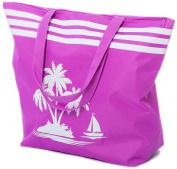 Beach Bag Womens Large Summer Canvas Tote Bags Zip Closure 50 x 38 x 16 CM Palm Tree Pattern Airee Fairee