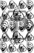 Clowns 3 7x11 stencil for cerakote, gunkote, duracoat Avery paint mask sticky back vinyl