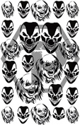 Clowns 1 7x11 stencil for cerakote, gunkote, duracoat Avery paint mask sticky back vinyl