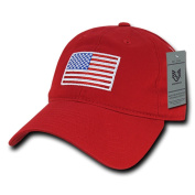 Rapiddominance Relaxed Graphic Cap, USA Flag, Red