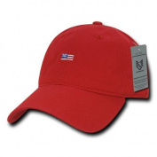 Rapiddominance Relaxed Graphic Cap, Small, Red