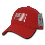 Rapiddominance Relaxed Graphic Cap, Tonal Flag, Red