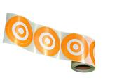 250 Target Stickers 7.6cm MOA Orange Self-Adhesive(Buy 1(250/Roll) get 1