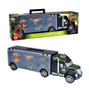Dinosaurs Transport Carrier Truck Toy with Dinosaur Toys Inside - Best dinosaur kids toy for ages 3 - 8 yr old