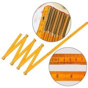 Newest Folding Ruler Wooden Yard Stick Ruler Wood Carpenter Metric Measuring Tools 200cm