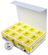 Dunlop Sports Pro Glass Court Squash Ball (White, Pack of 12) Athletics, Exercise, Workout, Sport, Fitness