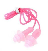 5Pcs Multicolor Soft Silicone Gel Corded String Swimming Earplugs for Swimming Comfortable for Adults & Kids by Newest trent