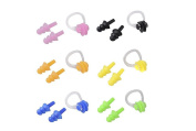 3Set (9PCS)Soft And Flexible Waterproof Nose Clip And Earplug Sets for Swimming or Sleeping With Earplug Case Colour By Random