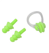 1Pcs Waterproof Soft Silicone Swimming Nose Clip with Ear Plug Set Water Sport Accessory Random Colour