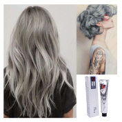 Kingko® 100ML Silver Ash Light Grey Hair Colour Permanent Hair Cream Dye Punk Emo Goth Cosplay