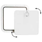 Osculati 20.302.40 - White inspection hatch removable lid 350 x 600mm