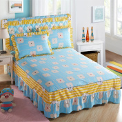YFFS Cotton Printed Bed Skirt Bedspread Cotton Bedding Single Bed Sheets,G-150*200cm