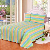 YFFS Pure Cotton Old Coarse Bed Sheets Coarse Cloth Bed Sheets,F-150*210cm