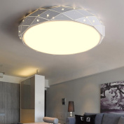 NAUY- LED ceiling lamp Modern simple round iron living room bedroom lights Warm and romantic creative personality lighting