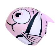 Kids Swimming Cap Fish Cartoon Cute Silicone Hat Boys Girls Swimming Fun