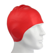 Swimming Cap Silicone Non-toxic Tasteless Long Hair Swim Cap with 3D Ergonomic Design Ear Pockets and Great High Elasticity for Teenagers Women and Adults Keeps Hair Clean Ear Dry