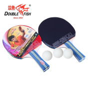 2 Pack – Double Fish Ping Pong Paddle Set With 3 Ping Pong Balls And Carry Bag, Table Tennis Racket