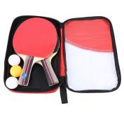 2Pcs Poplar Wood Table Tennis Ping Pong Bats Set With Balls And Racket Case