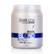 Sleek Silver Hair Mask with Silk Protein – 1 Litre with Pump