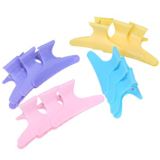 Anself 12pcs Colourful Hairdressing Tool Butterfly Hair Claw Hairdressing Salon Tool
