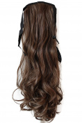 PRETTYSHOP 60cm Hair Piece Clip on Ponytail Extension Long Wavy Heat-Resisting HC6-1