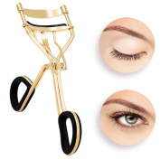 Eyelash Curler,Hibote Professioner Lash Curler with 6 Replacement Refill Pads Silicone, Gold Colour – [ Premium Steel ] to Get Beautiful Eye Lashes